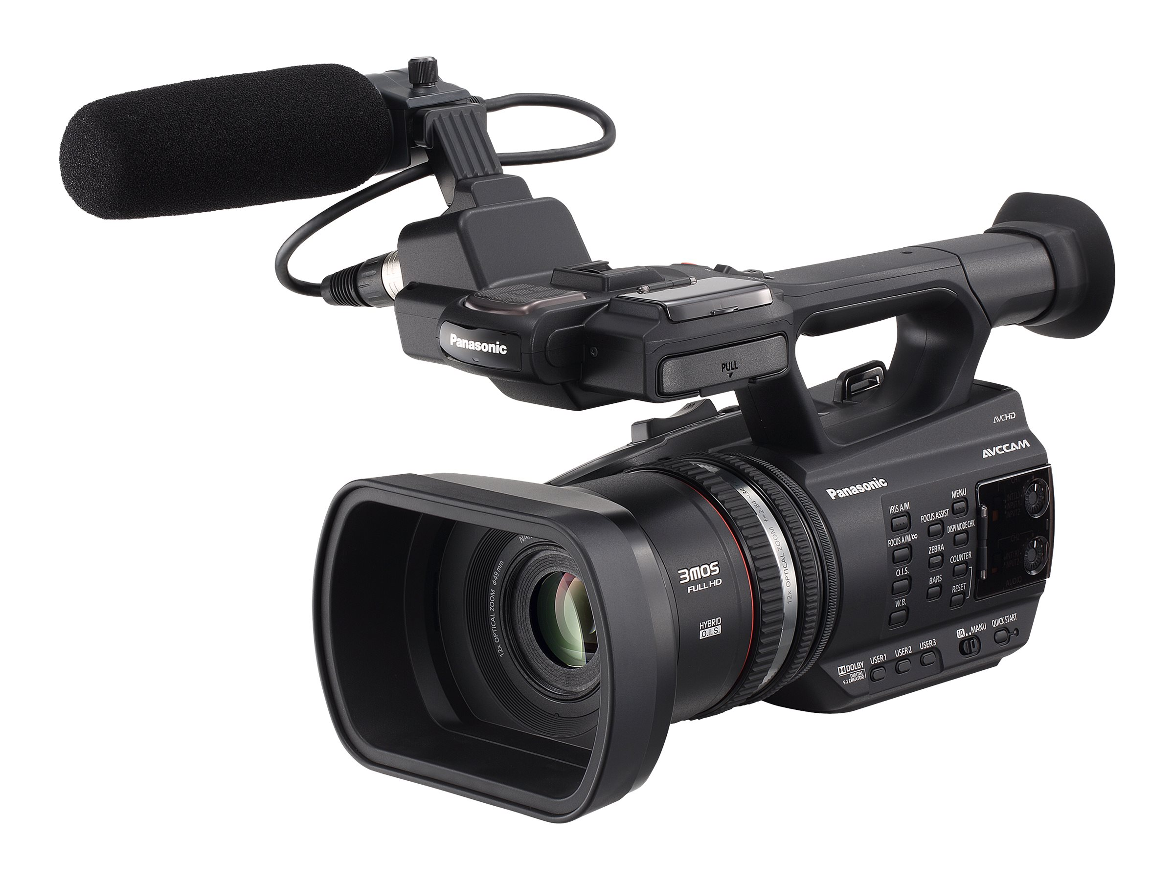 Panasonic Full HD Handheld Camcorder, 12x Zoom, Black, AG-AC90A, 28990106, Camcorders
