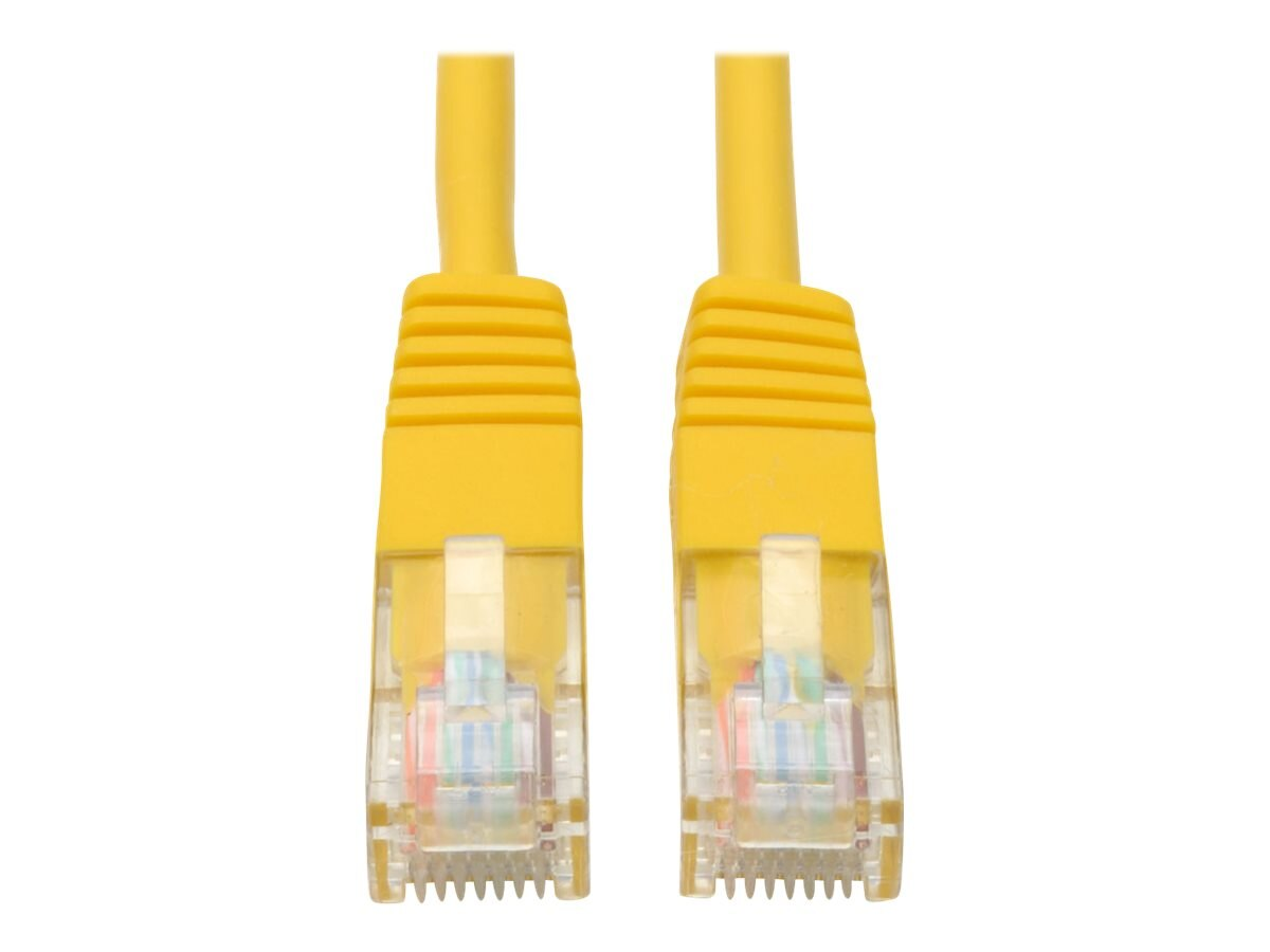 Tripp Lite Cat5e RJ-45 M M 350MHz Molded Patch Cable, Yellow, 50ft