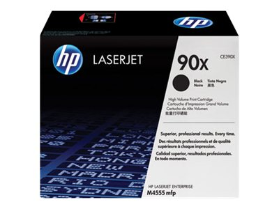 HP 90X (CE390X) High Yield Black Original LaserJet Toner Cartridge, CE390X, 12485105, Toner and Imaging Components