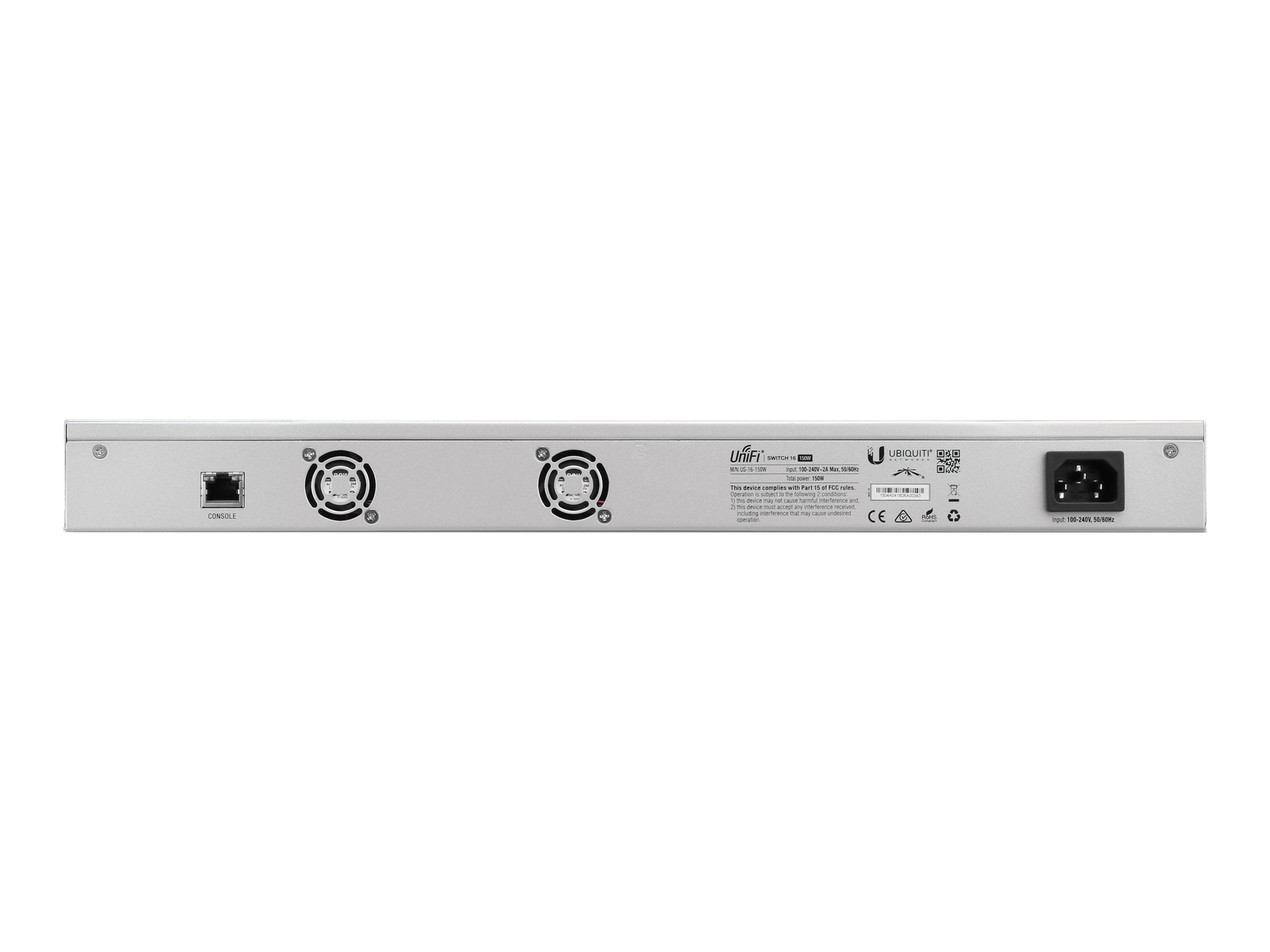 Ubiquiti 16-Port GbE PoE+ Managed Switch w 2xSFP, US-16-150W