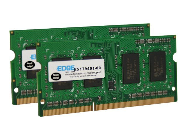 Edge 8GB PC3-10600 204-pin DDR3 SDRAM SODIMM Kit, PE22547602