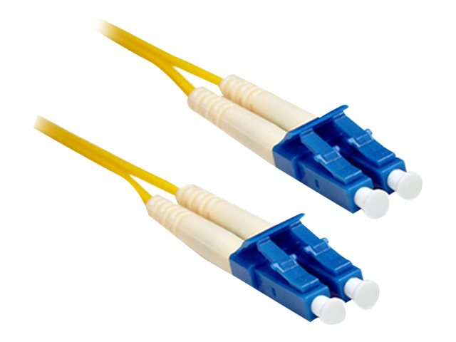 LC-LC 9 125 OS1 Singlemode Duplex Fiber Cable, Yellow, 7m