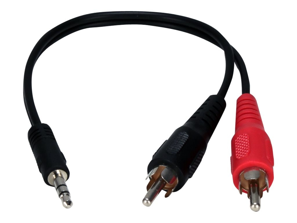 QVS 3.5mm Mini-Stereo Male to Two RCA Male Speaker Adapter, 8, CC399AC, 16745453, Cables