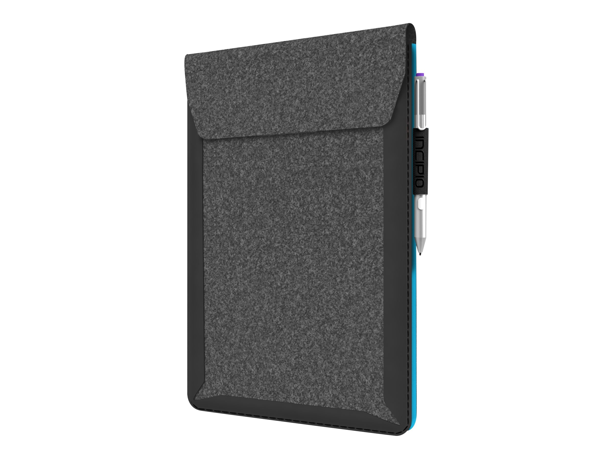 Incipio Underground Sleeve Soft Felt w  Welded Shock Absorbing Frame for 10 11 Devices, Gray Cyan