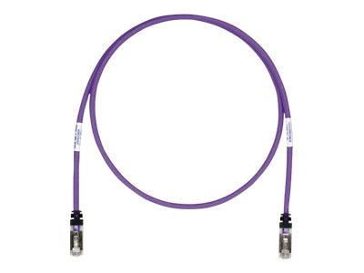 Panduit Cat6a SFTP Copper Patch Cable, Violet, 5ft