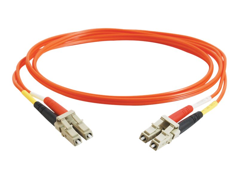 C2G Fiber Optic Cable, LC-LC, Duplex Multimode, PVC, 3m