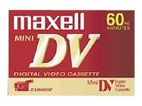 Maxell MiniDV Video Cassette, 60min