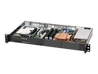 Supermicro Chassis, 1U Mini Rackmount, 1 Bay, Celeron, 200W PS, Black, CSE-502-200B, 8302812, Cases - Systems/Servers