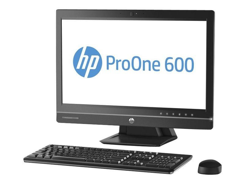 HP ProOne 600 G1 AIO Core i3-4160 3.6GHz 4GB 500GB DVD-RW GbE abgn WC 21.5 HD W7P64-W8.1P, K1K72UT#ABA, 17706384, Desktops - All-in-One