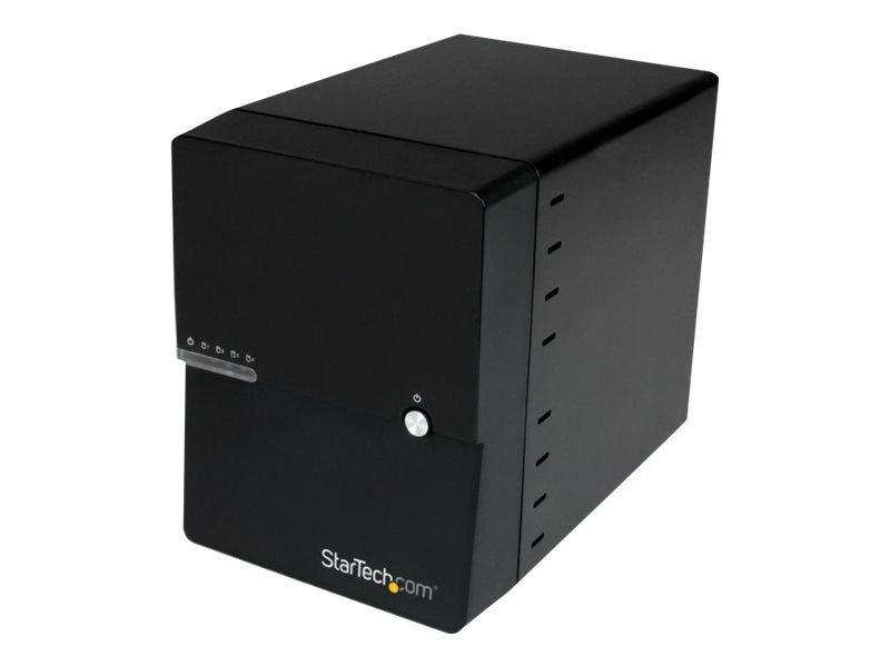 StarTech.com USB 3.0 eSATA 4-Bay 3.5 SATA 6Gb s Hard Drive Enclosure w  built-in Hard Drive Fan & UASP, S3540BU33E, 17658896, Hard Drive Enclosures - Multiple