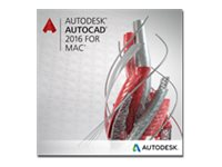Autodesk AutoCAD for Mac 2016 Commercial New Single-user ELD Annual Subscription with Basic Support, 777H1-WW7269-T747-VC, 31645733, Software - CAD