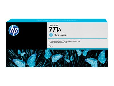 HP 771A 775ml Light Cyan Designjet Ink Cartridge, B6Y20A, 15695327, Ink Cartridges & Ink Refill Kits