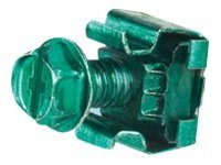 Panduit Green Bonding Cage Nut #12-24 w  Green Thread-Forming Grounding Screw #12-24 x 1 2 (50-pack)