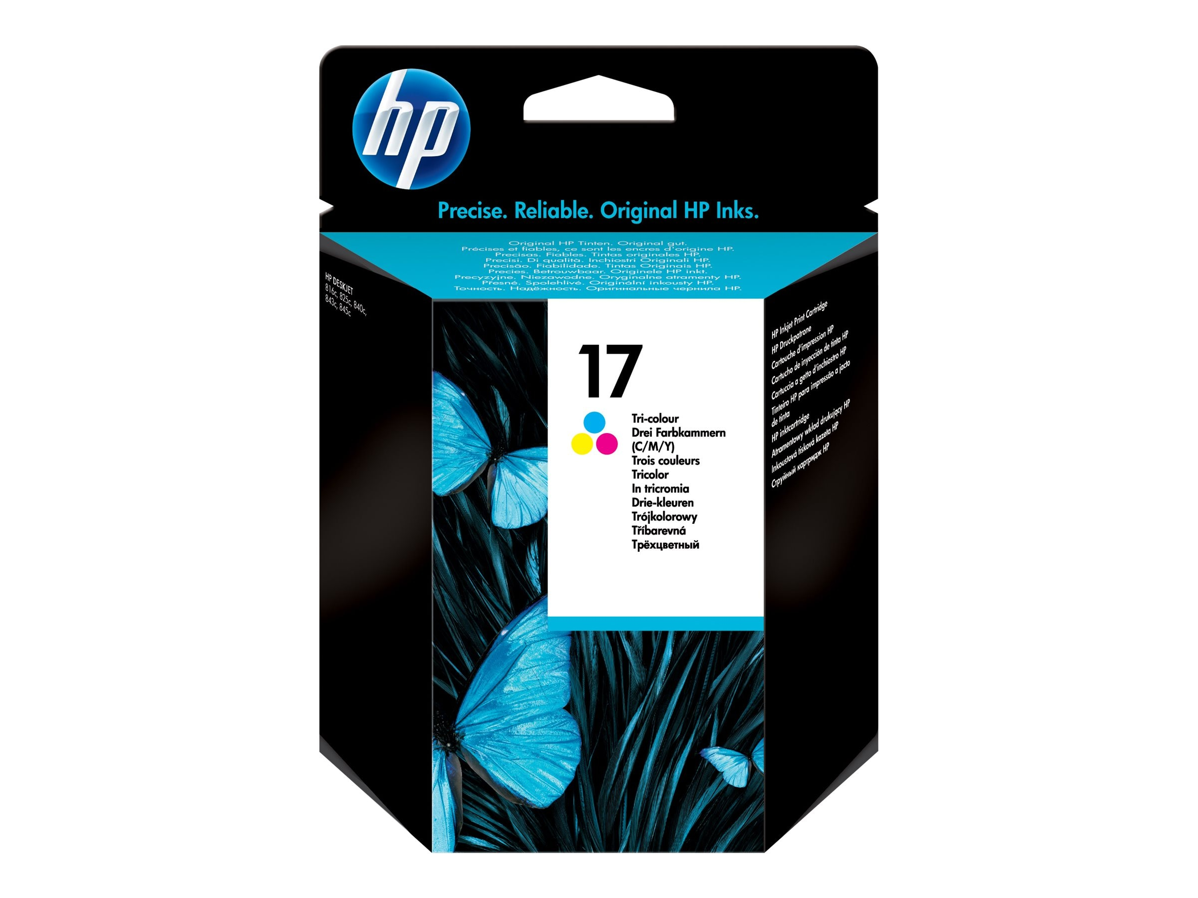HP 17 (C6625A) Tri-color Original Ink Cartridge, C6625A, 7094311, Ink Cartridges & Ink Refill Kits
