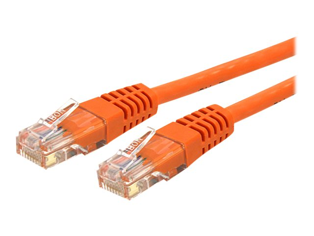 StarTech.com Cat6 UTP 500MHz Gigabit Ethernet Patch Cable, Molded, Orange, 15ft