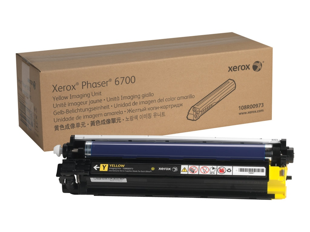 Xerox Yellow Imaging Unit for Phaser 6700 Series, 108R00973, 16372440, Toner and Imaging Components