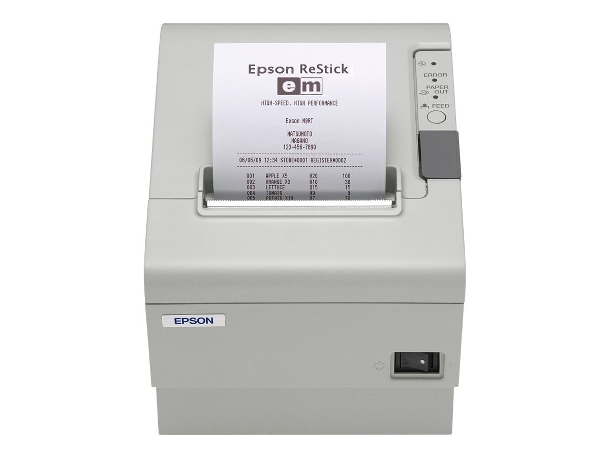 Epson TM-T88IV ReStick S01 ECW 80mm Label Printer w  PS-180 Power Supply, C31C636A7651