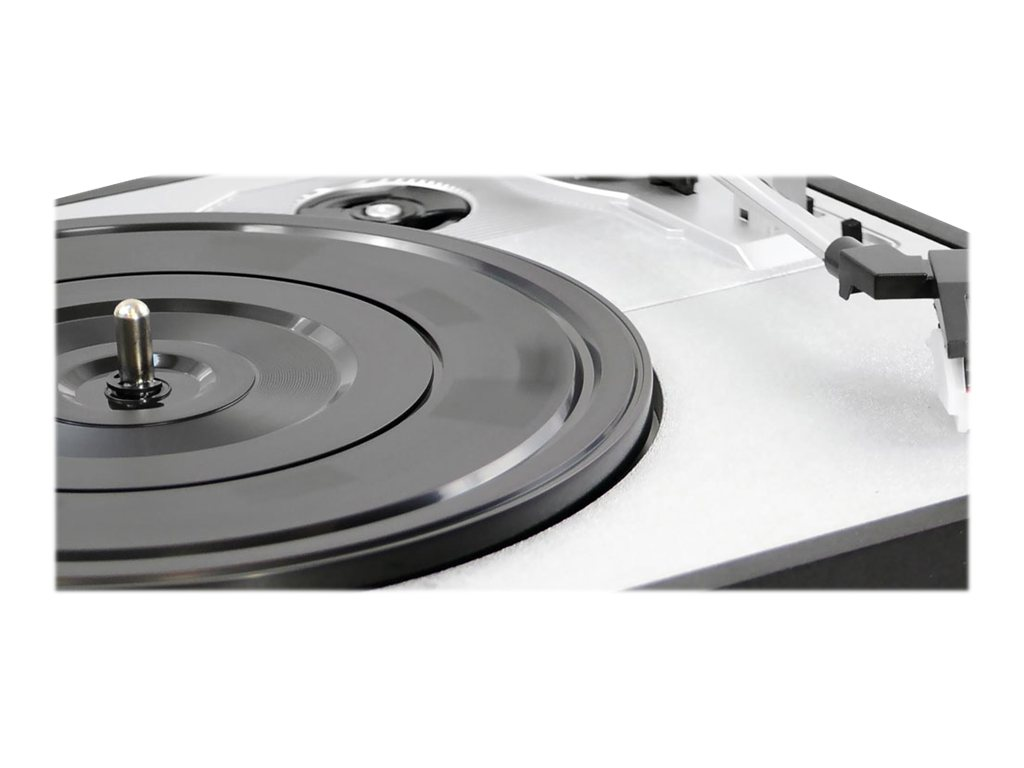 Pyle Multifunction Turntable with MP3 Recording, USB-to-PC, Cassette Playback, Rechargeable Battery, PTTC4U