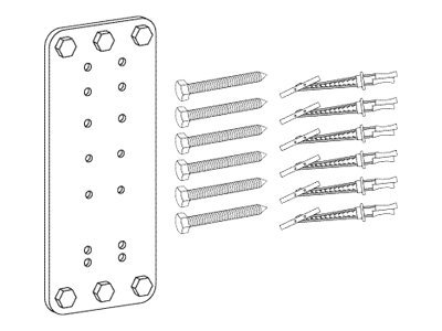 Ergotron Steel Stud Wall Mounting Kit, 60-591-003