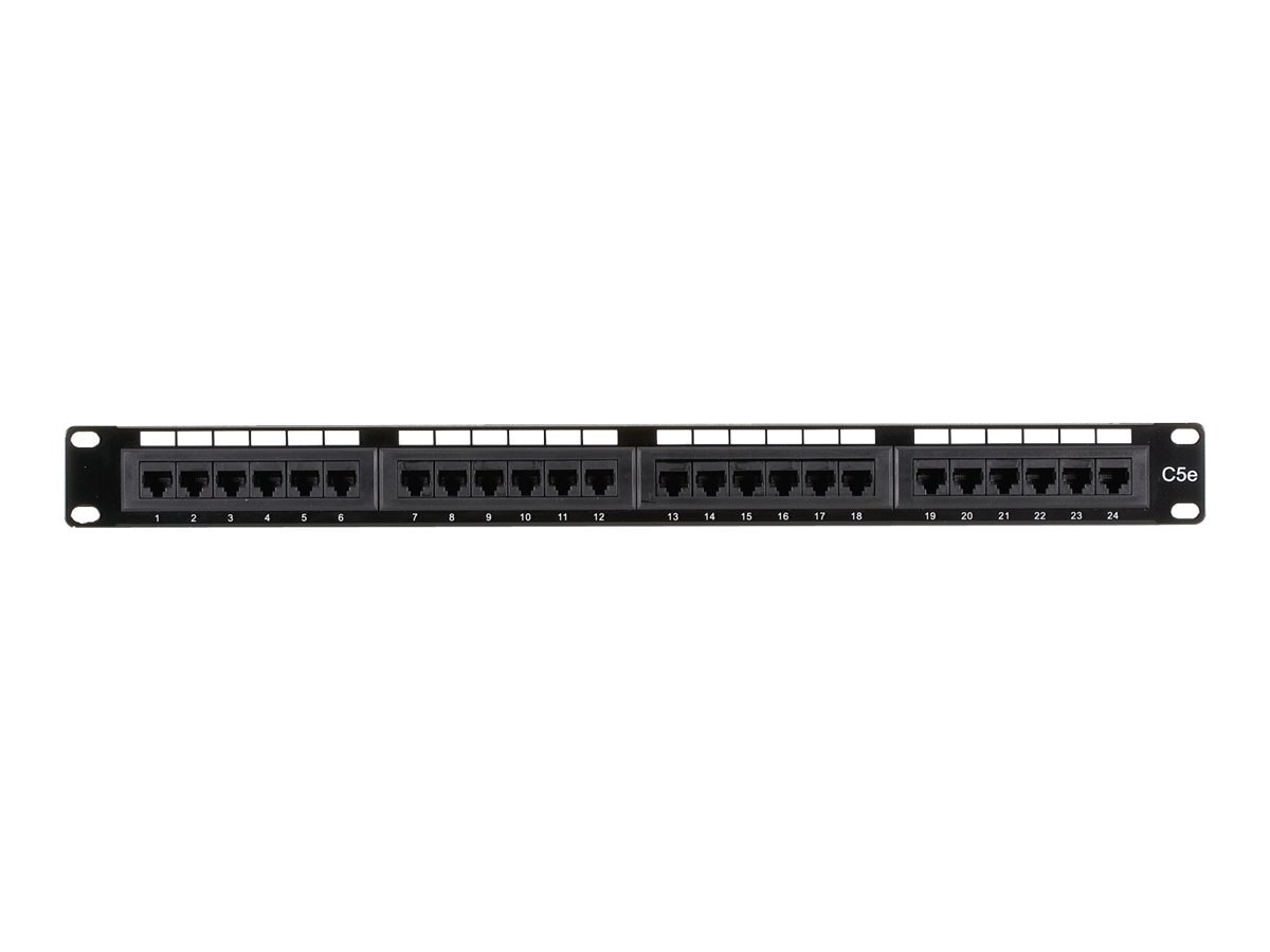 Black Box Cat5e Patch Panel, 24-Port, JPM5E24A, 10531219, Patch Panels