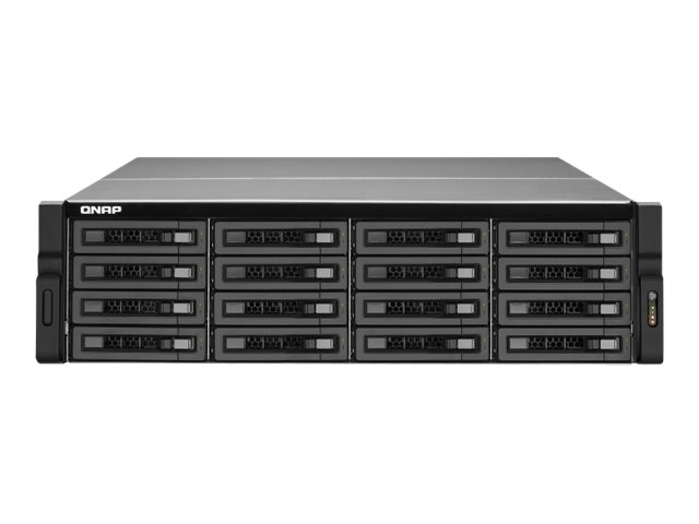 Qnap 16-Bay 3U SAS SATA 6Gb s 4LAN 10G-Ready NAS w  Redundant Power Supply, TS-EC1679U-SAS-RP-US, 16388492, Network Attached Storage