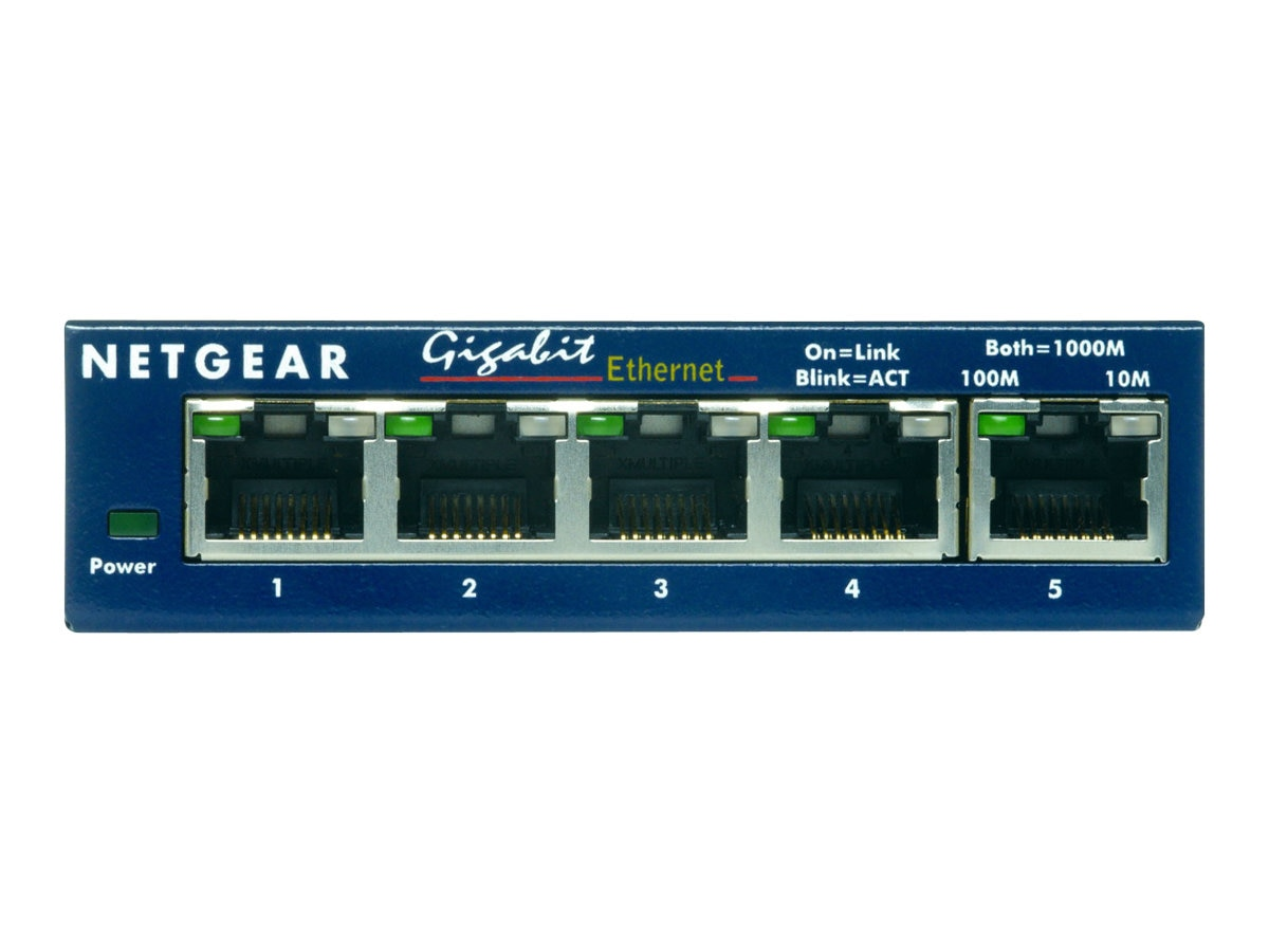 Netgear GS105 5-port Gigabit Ethernet Switch, GS105NA, 456973, Network Switches