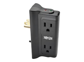 Tripp Lite Protect It! Surge (4) Outlet (2 Transformers) Direct Plug-in 670 Joules, Black, TLP4BK, 7895353, Surge Suppressors