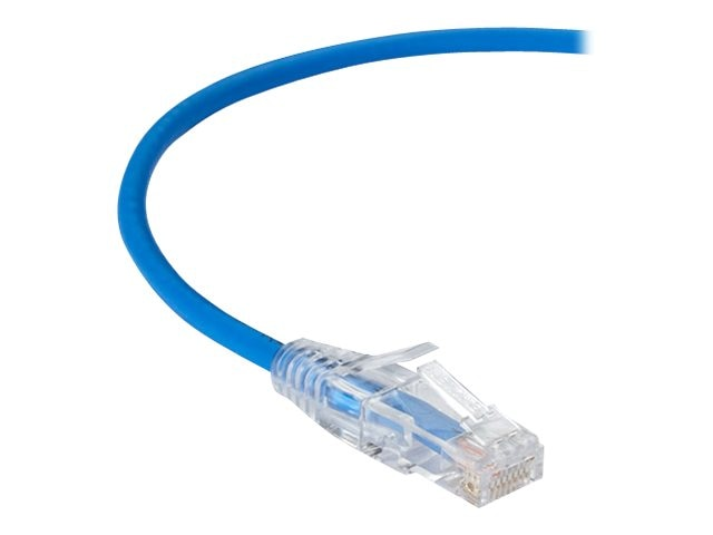 Black Box CAT6 250MHz 28AWG UTP Snagless Patch Cable, Blue, 1ft, C6PC28-BL-01