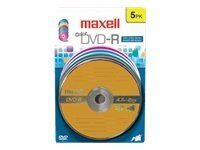 Maxell MAXE 638033 DVD-R CARD  COLOR 5P, 638033, 10239883, DVD Media