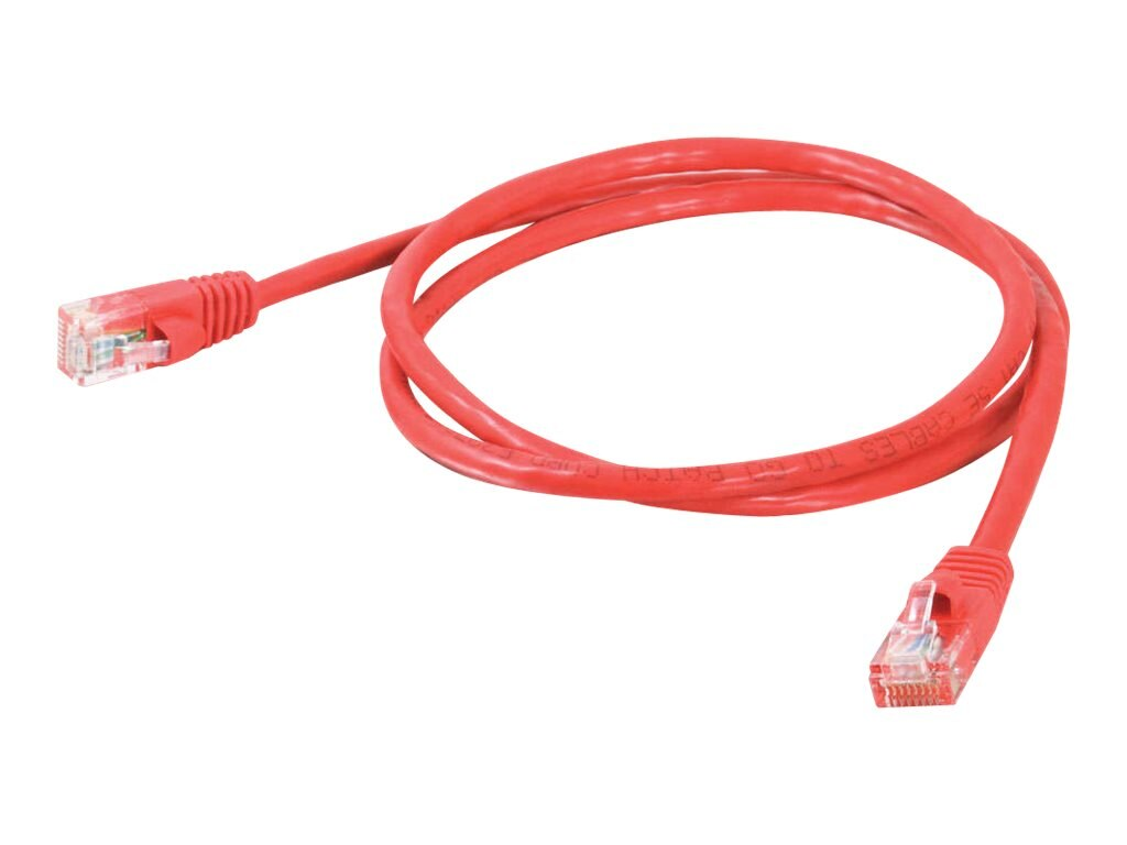C2G Cat5e Snagless Unshielded (UTP) Network Patch Cable, Red, 7ft