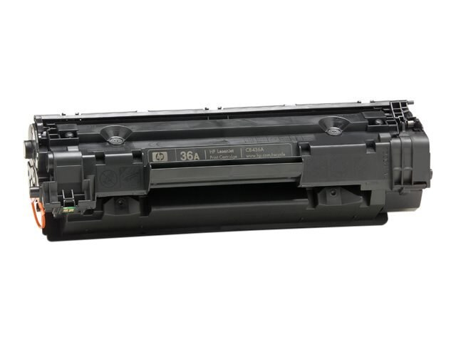 HP 36A (CB436A) Black Original LaserJet Toner Cartridge for HP LaserJet P1505 Series Printers, CB436A