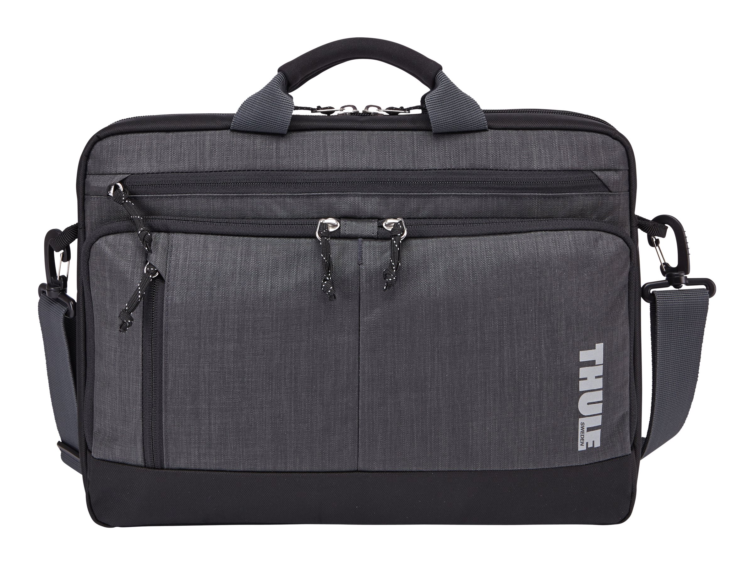 Case Logic Thule 15 Stravan Deluxe Attache for MacBook Pro MacBook Air, Gray, TSDA115GRAY, 23306176, Carrying Cases - Notebook