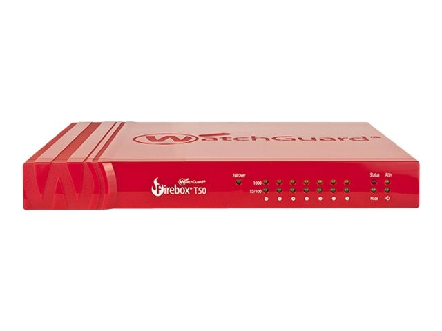 Watchguard Firebox T50 w Std Sup US (1 Year), WGT50001-US, 30859422, Network Firewall/VPN - Hardware
