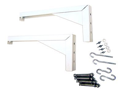 Elite L Bracket Screen Mount Set 12in, White 12