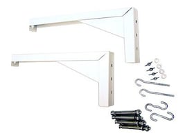 Elite L Bracket Screen Mount Set 12in, White 12, ZVMAXLB12-W, 9093151, Projector Screen Accessories