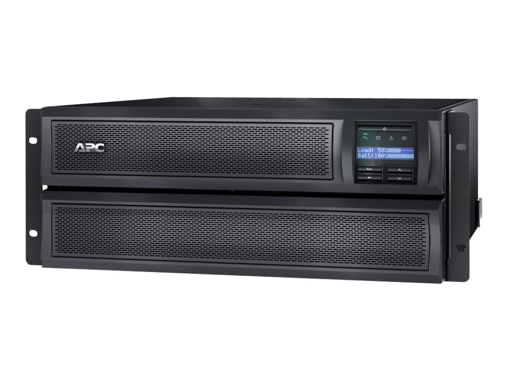 APC Smart-UPS X 2200VA 1980W 208-240V LCD 4U Rack Tower Extended Runtime UPS (10) Outlets USB, SMX2200HV