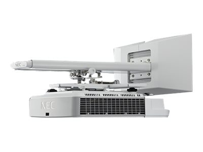 NEC U321HI-WK DLP Projector, 3200 Lumens, White with Wall Mount, NP-U321HI-WK