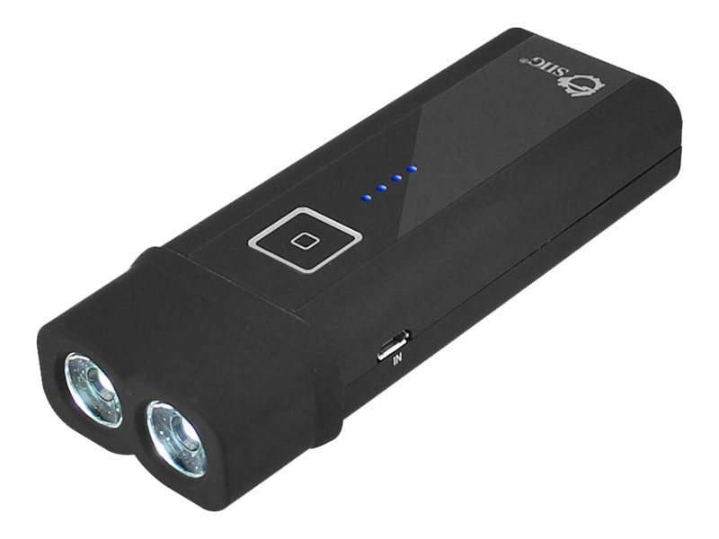 Siig Portable Battery Power Bank Plus USB Light Combo, CE-CH0B12-S1, 17400596, Batteries - Other