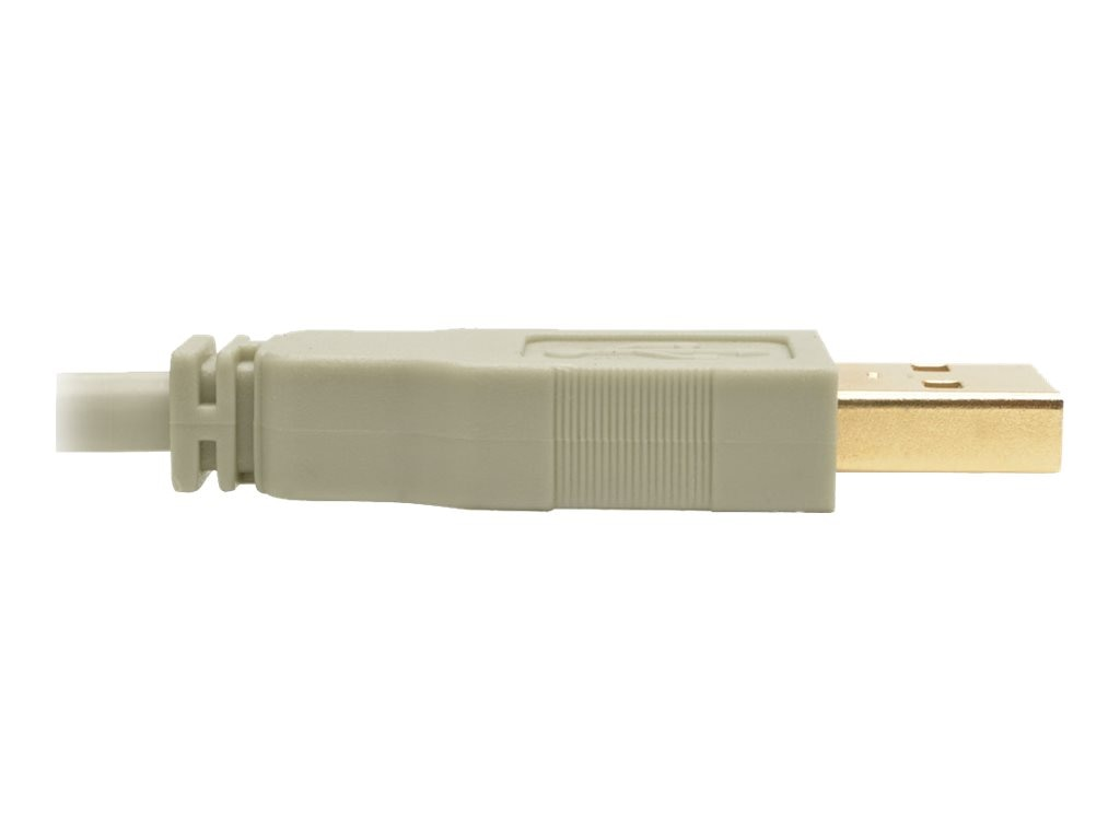 Tripp Lite Hi-Speed USB 2.0 Type A to USB Type B M M Cable, Beige, 6ft, U022-006-BE