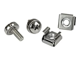 StarTech.com M5 Mounting Screws & Cage Nuts for Server Rack Cabinet (100-pack), CABSCREWM52, 12719830, Tools & Hardware