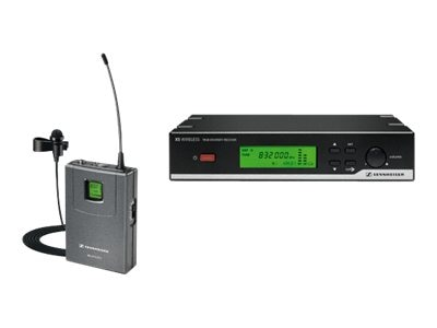 Sennheiser Presentation Set, Transmitter, Receiver, Clip-on Mic, Power Supply, Antennas, Pouch, 548-572MHz, XSW 12-A, 13698153, Microphones & Accessories
