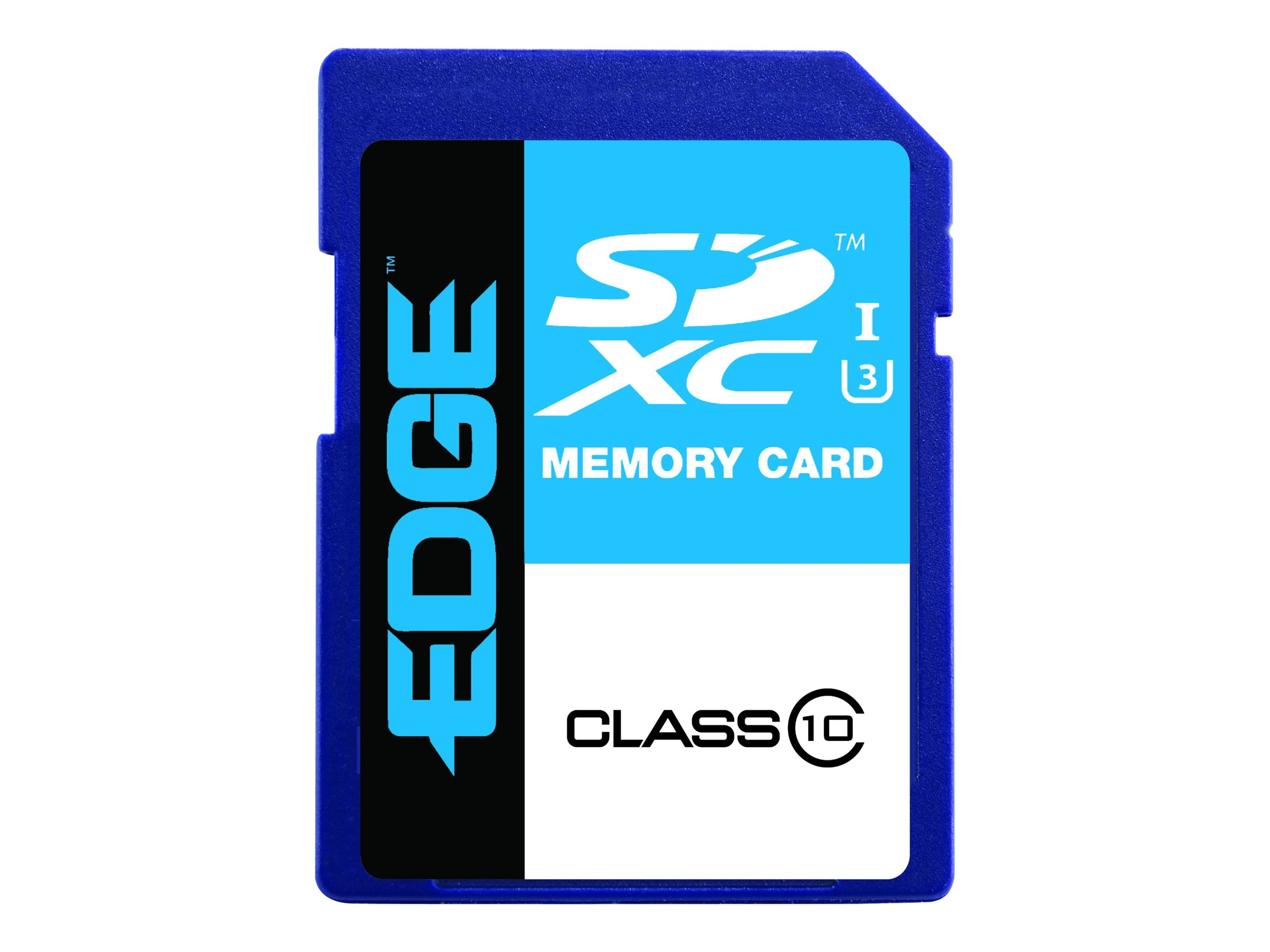 Edge 128GB SDXC UHS-I Flash Memory Card, Class 10, PE248338, 31454081, Memory - Flash
