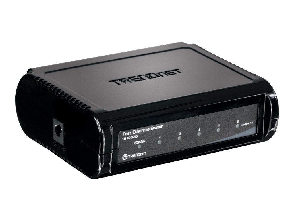 TRENDnet 5-Port Switch 10 100Mbps Fast Ethernet Switch, TE100-S5