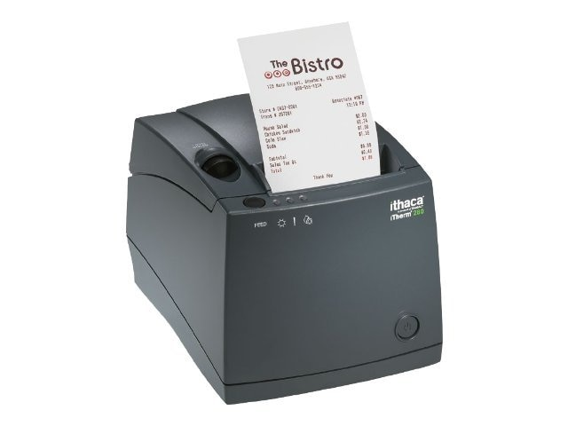 Ithaca iTherm 280 Thermal Receipt Printer (203 dpi, 2.83 Inch    Print Width, 8 ips Print Speed and 9-Pin, 280S-9-DG, 6872141, Printers - POS Receipt