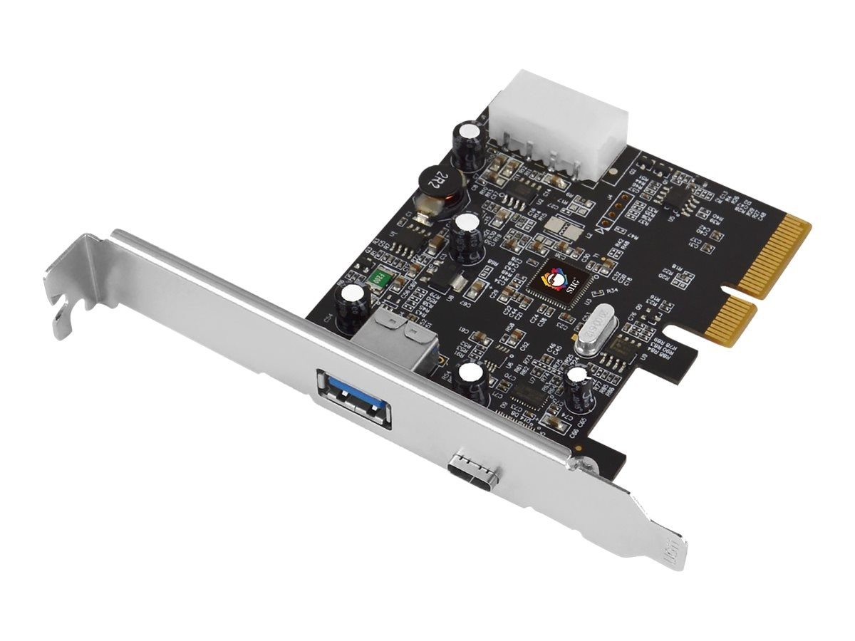 Siig USB 3.1 Type A C 2-Port PCIe Host Adapter, JU-P20A12-S1