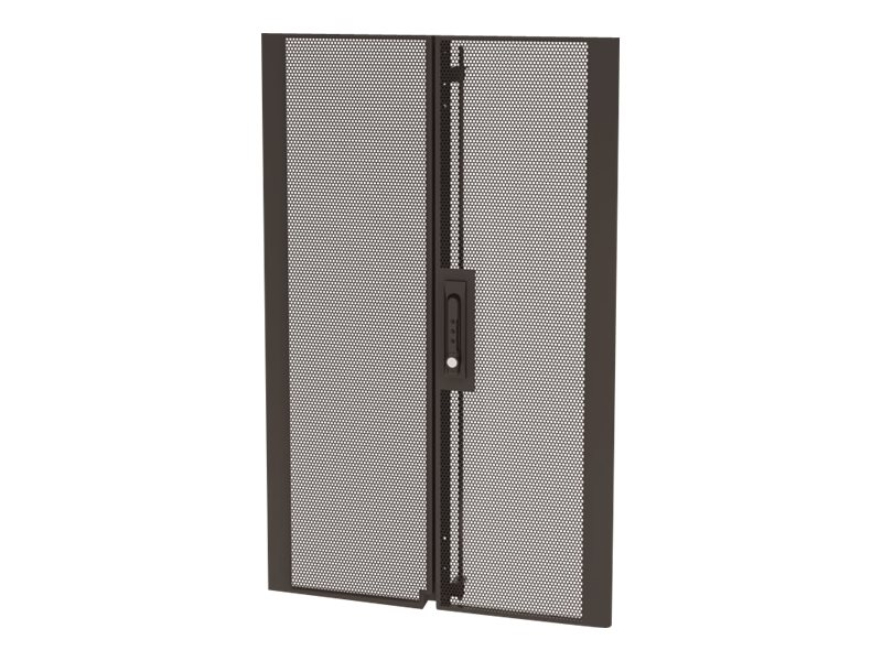 APC NetShelter SX Colocation 20U 600mm Wide Perforated Split Doors, Black, AR7103, 13477861, Rack Mount Accessories