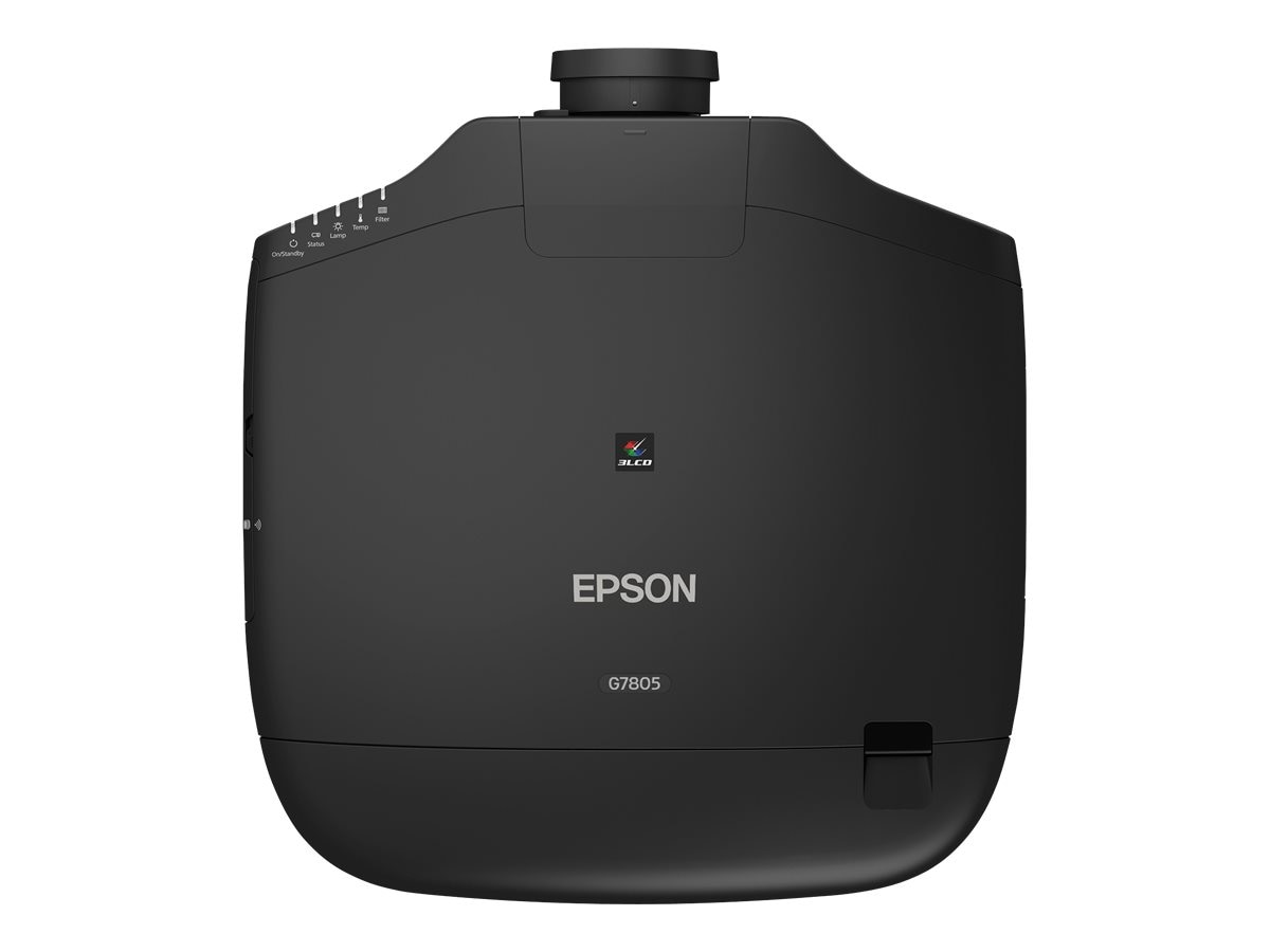 Epson Pro G7805 XGA 3LCD Projector with Standard Lens, 8000 Lumens, Black, V11H753120