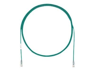 Panduit Cat6e 28AWG UTP CM LSZH Copper Patch Cable, Green, 22ft, UTP28SP22GR
