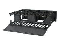 Panduit Horizontal Cable Manager High Capacity Front Rear 3U, 5.2h x 19.0w x 13.1d, NM3, 22997542, Rack Cable Management