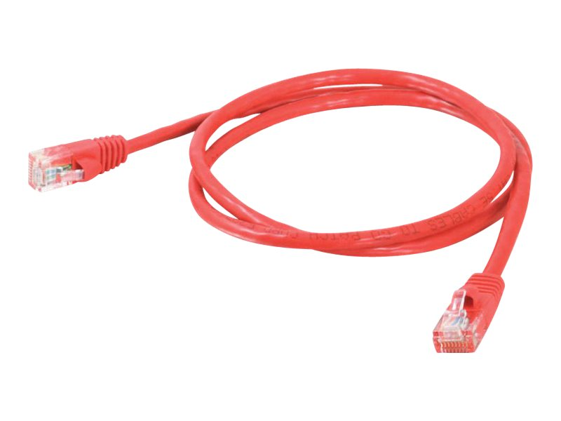 C2G Cat5e Snagless Unshielded (UTP) Network Patch Cable - Red, 10ft
